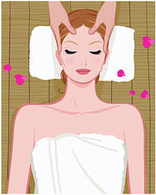 Spa Girl Graphic