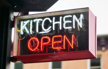 kitchen open sign large crop