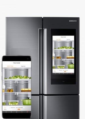 refrigerator with screen