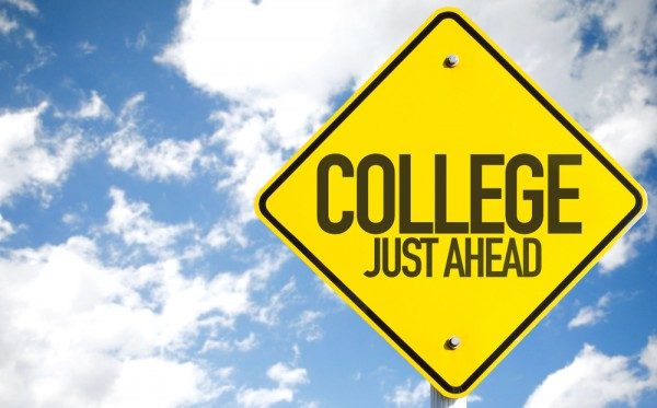 college just ahead