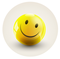 smiley face ball  round